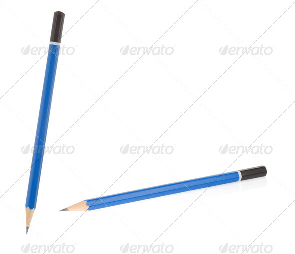 wooden pencil isolated on white - Stock Photo - Images