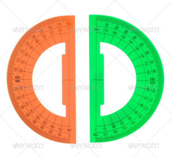 protractor isolated on white - Stock Photo - Images