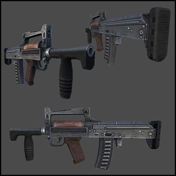 "OTs-14-4A ""Groza-4"" assault rifle - 3DOcean Item for Sale"