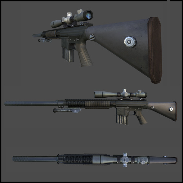 M110 Semi-Automatic Sniper - 3DOcean Item for Sale