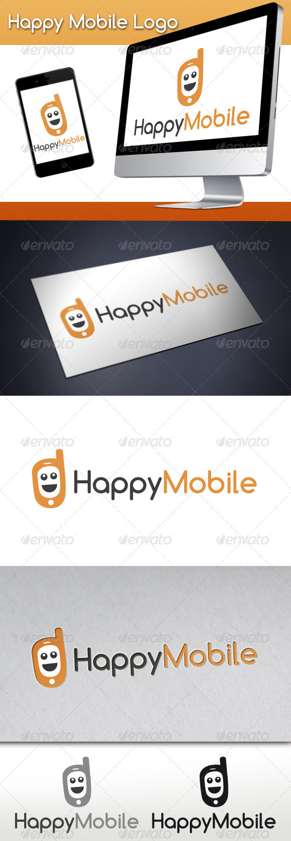 Happy Mobile Logo - Objects Logo Templates