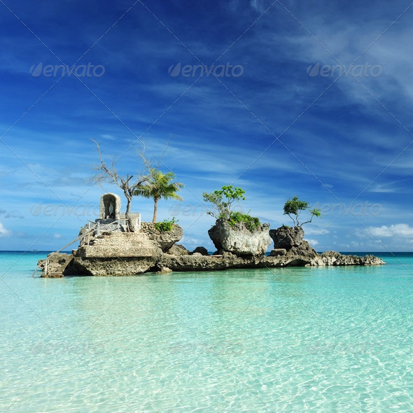 Rock on a beach - Stock Photo - Images