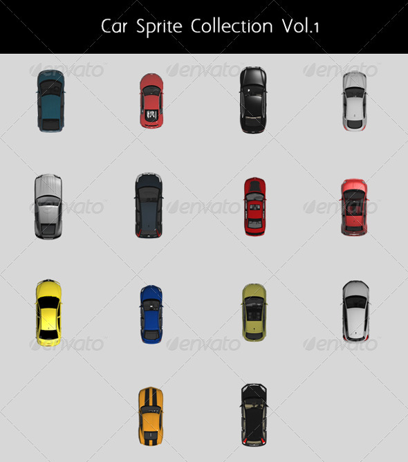 Car Top Sprite Collection Vol.1 - Miscellaneous Graphics