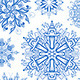 Collection of Christmas Snowflakes - GraphicRiver Item for Sale
