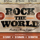 Rock the World Retro Flyer - GraphicRiver Item for Sale
