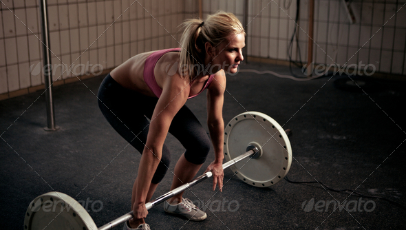 Preparing To Lift Heavy Weight Bar - Stock Photo - Images