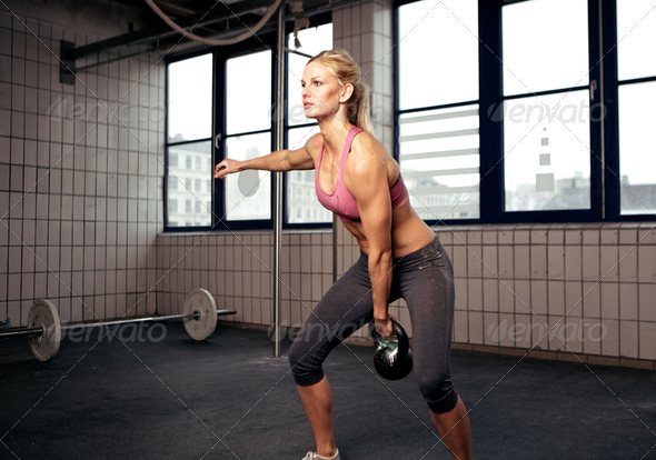 Kettlebell Workout - Stock Photo - Images