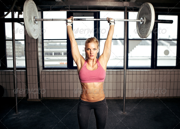 Shoulder Press Fitness Exercise - Stock Photo - Images