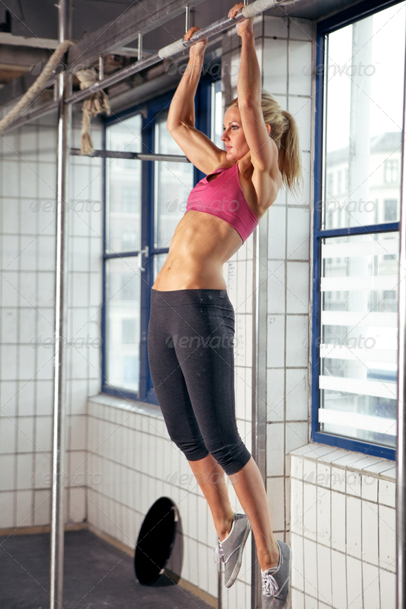Woman Pull Ups - Stock Photo - Images