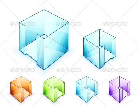 Vector Glass Cubes - Objects Vectors