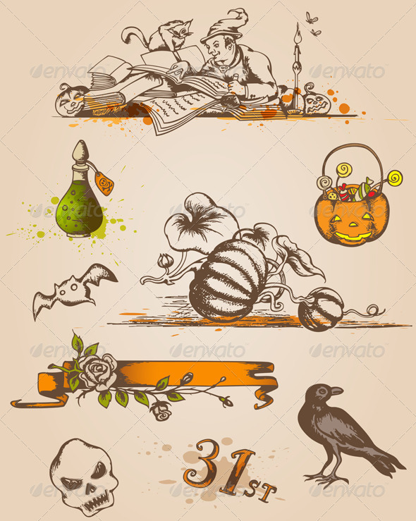Halloween Design Elements - Halloween Seasons/Holidays