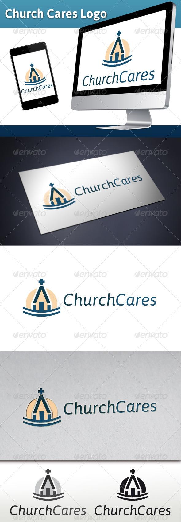 Church Cares Charity Logo - Buildings Logo Templates