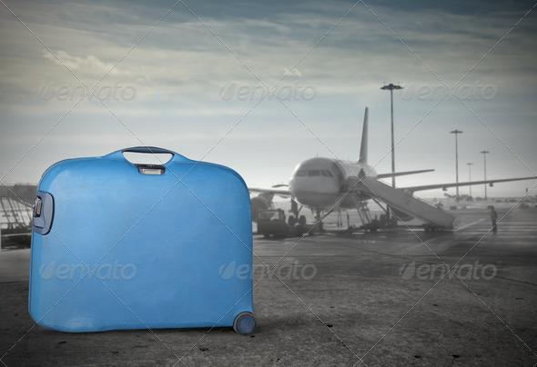 Blue Luggage - Stock Photo - Images