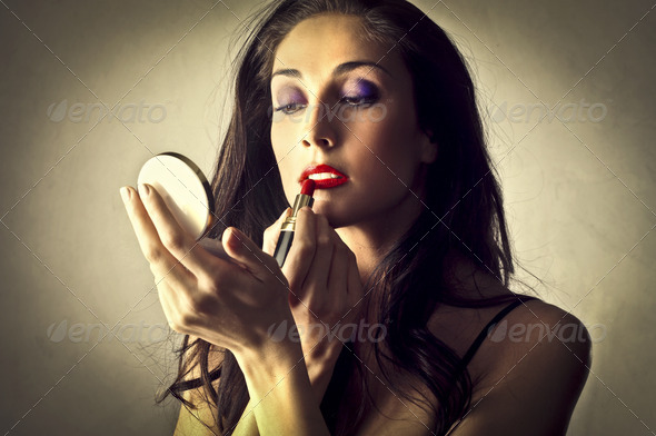 Woman Make-Up - Stock Photo - Images