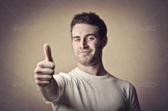 Guy Thumb Up - Stock Photo - Images