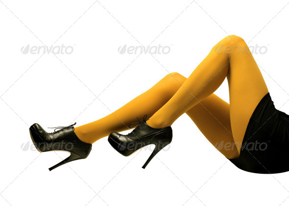 Yellow Tights - Stock Photo - Images