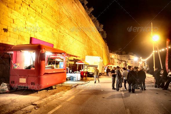 Night Market - Stock Photo - Images
