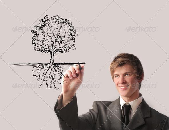 Man Plant - Stock Photo - Images