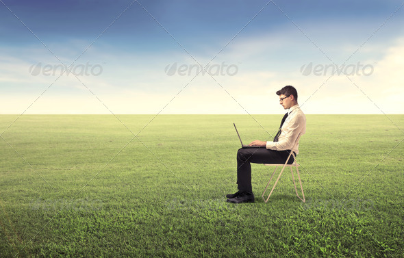 Green Laptop - Stock Photo - Images