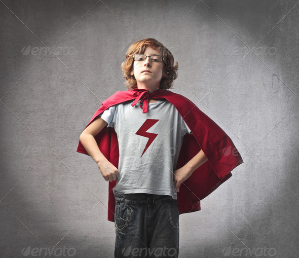 Super Child - Stock Photo - Images