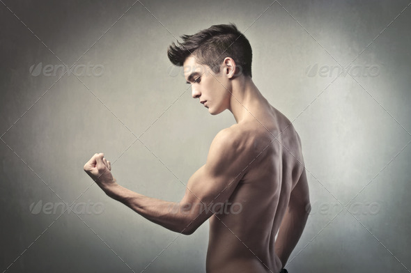 Guy Muscles - Stock Photo - Images