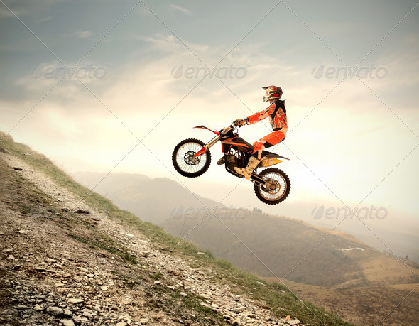 Motocross Jump - Stock Photo - Images