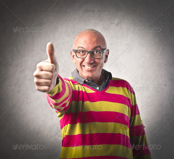 Adult Thumb Up - Stock Photo - Images