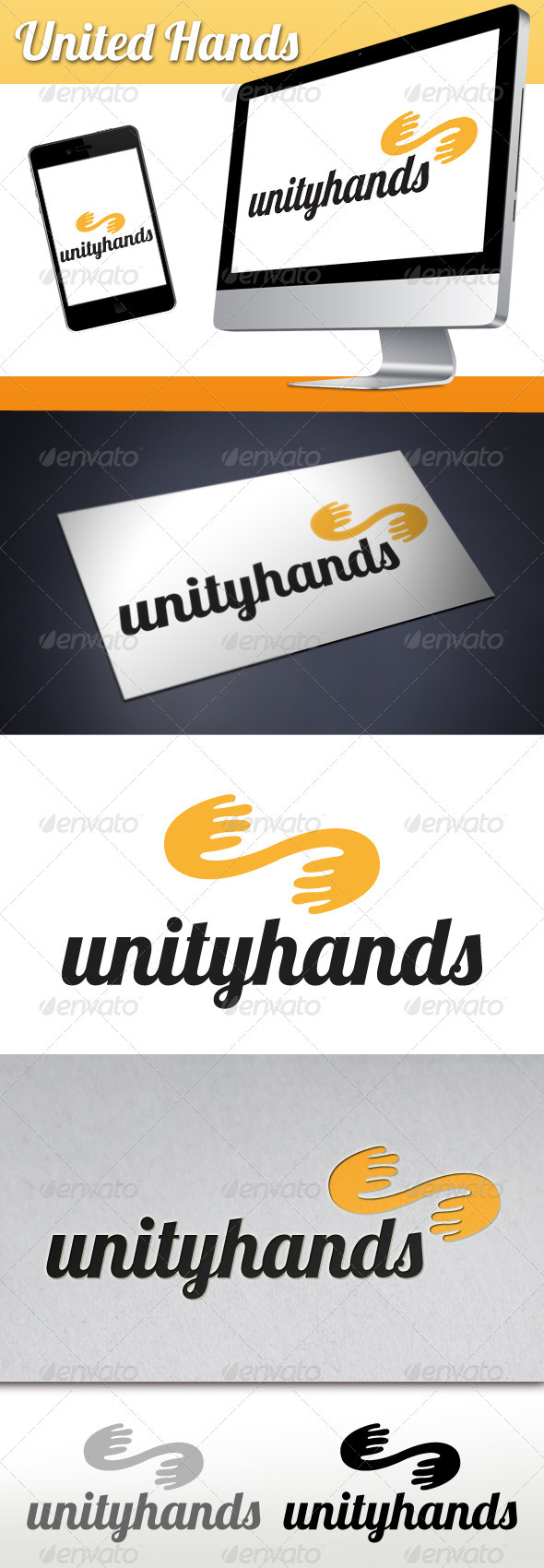United Hands Logo - Humans Logo Templates