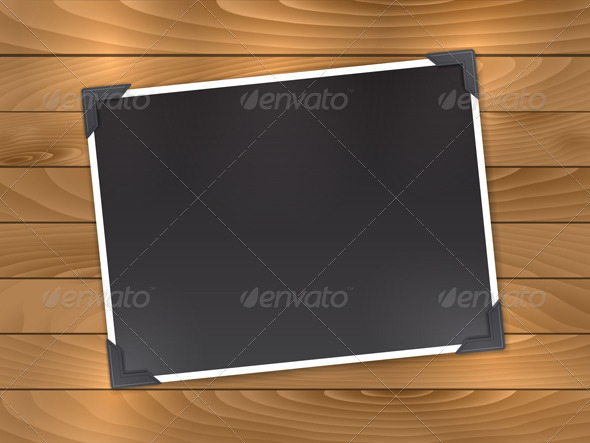 Blank photo on wood - Backgrounds Decorative