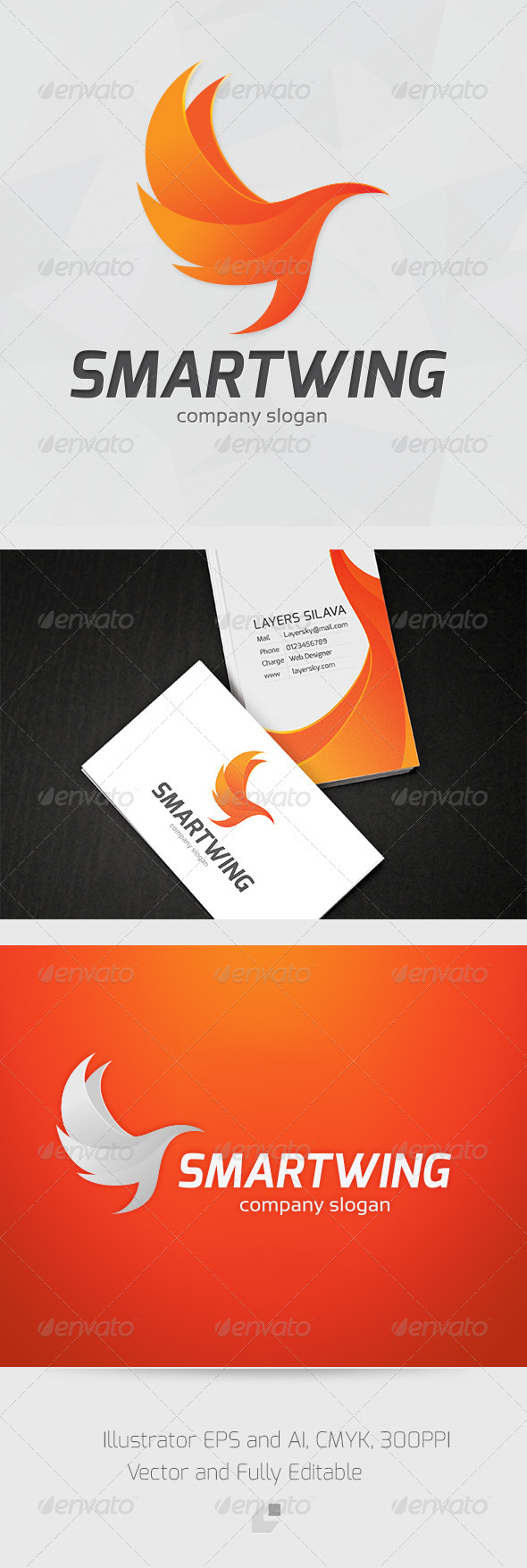 Smart Wing Logo - Animals Logo Templates