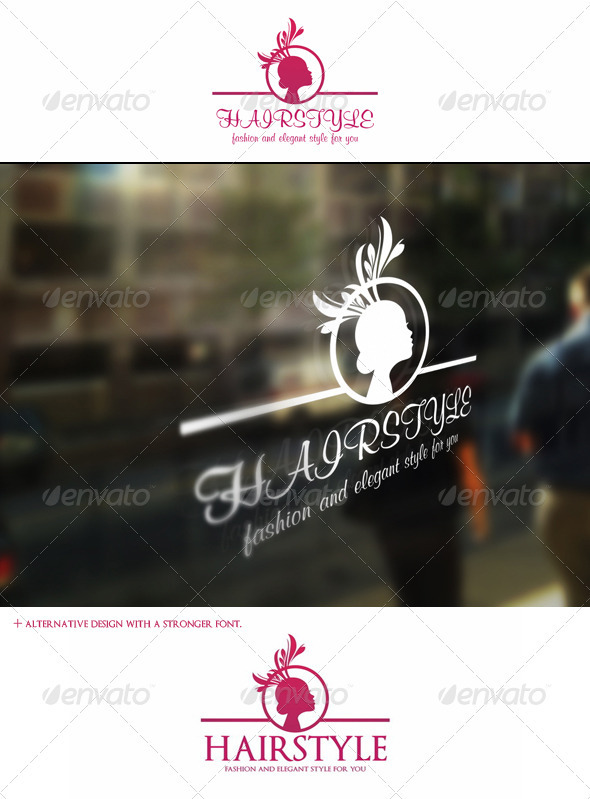 Hairstyle Logo Template - Fashion And Beauty - Humans Logo Templates