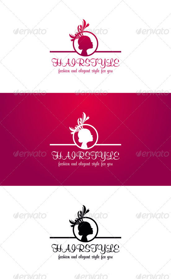 Hairstyle Logo Template - Fashion And Beauty by djjeep | GraphicRiver