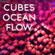 Cubes Ocean Flow / Side View / Static Cam - VideoHive Item for Sale