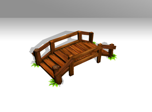 Low Poly Bridge - 3DOcean Item for Sale