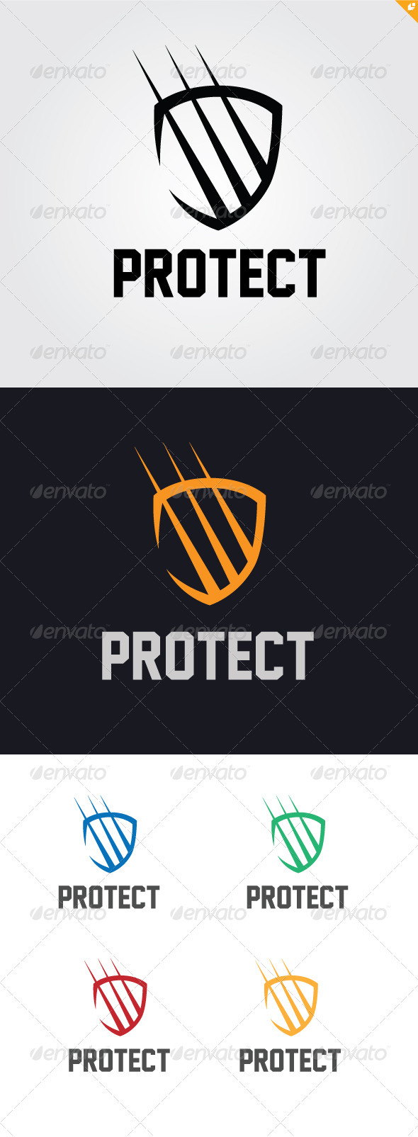 Protect Logo - Crests Logo Templates