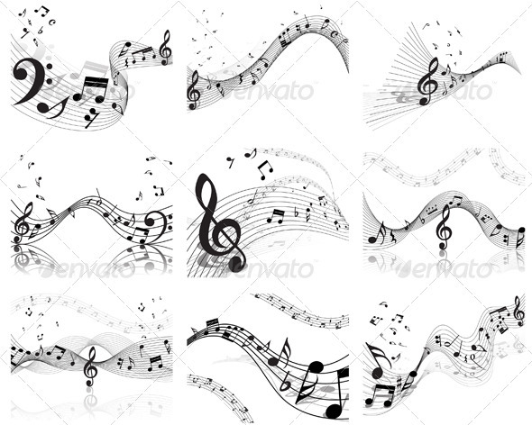 Musical Staff Set - Miscellaneous Vectors