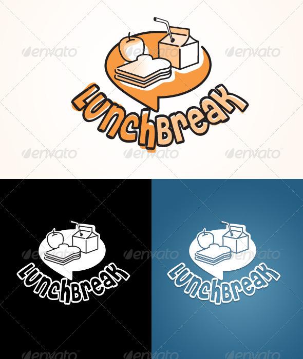 Lunch Break logo - Food Logo Templates