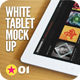 Tablet App White Pad Mock-Up - GraphicRiver Item for Sale