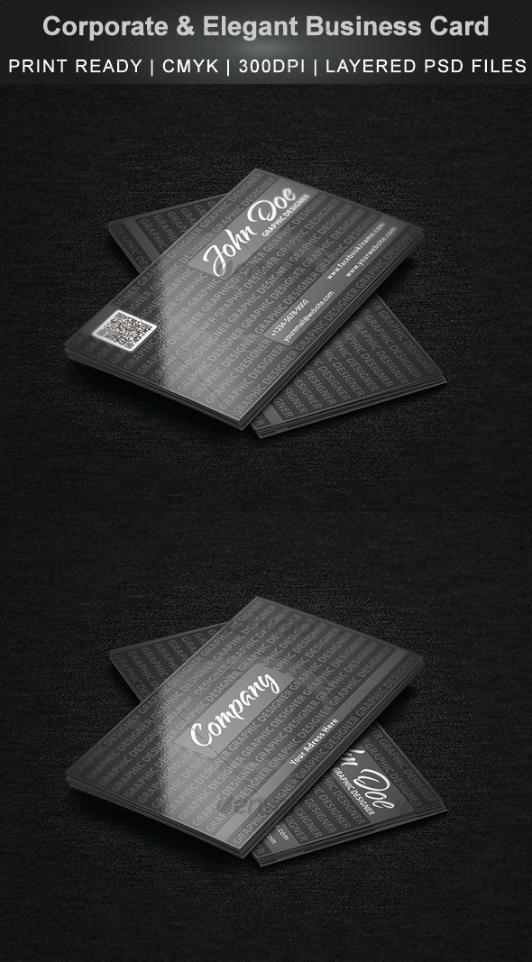 Corporate & Elegant Business Card - Corporate Business Cards