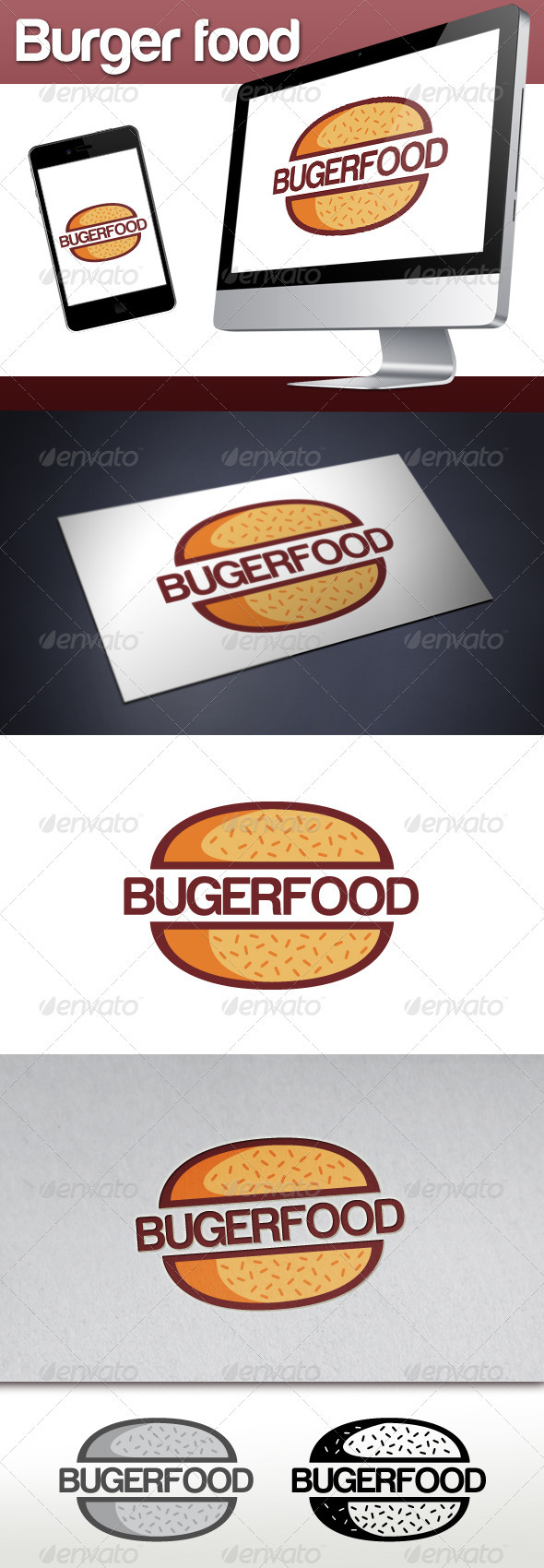 Burger Restaurant Logo - Restaurant Logo Templates