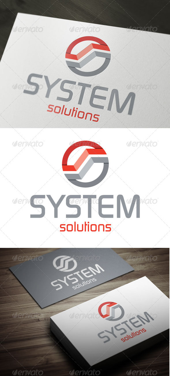 System Solutions - Letters Logo Templates