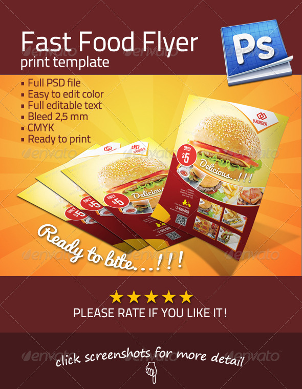 Fast Food Flyer by JROHCreative | GraphicRiver