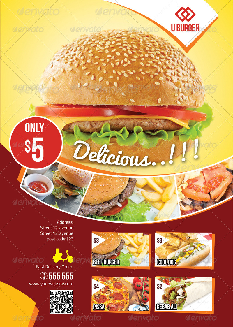 Fast food flyer by jrohcreative graphicriver