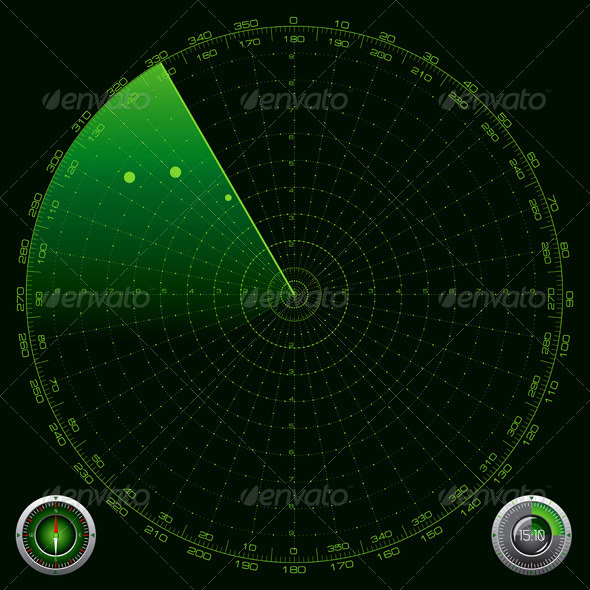Detailed Illustration of a Radar Screen - Technology Conceptual