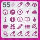 55 AI and PSD Mobile Icons - GraphicRiver Item for Sale