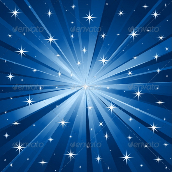 Blue Stars Vector Background - Backgrounds Decorative