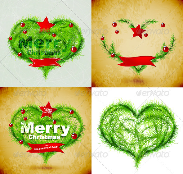 Vector Grunge Merry Christmas Backgrounds - Christmas Seasons/Holidays