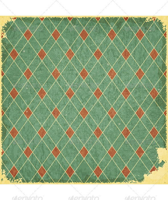 Grunge blue checkered background - Backgrounds Decorative