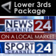Broadcast Design - News Lower Third Package1 - VideoHive Item for Sale