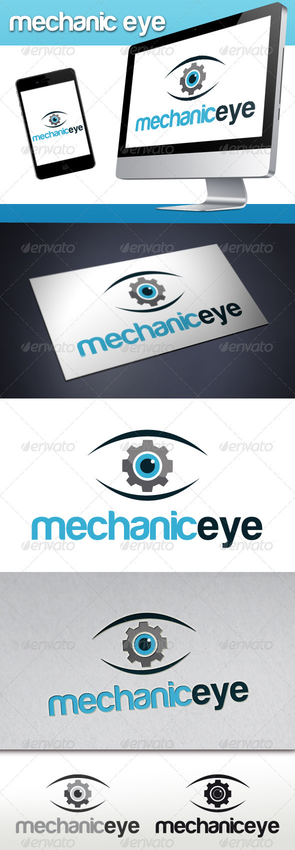 Mechanic Eye Logo - Symbols Logo Templates